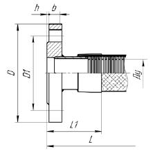 Ф01. Металлорукав высокого давления МРВД с арматурой «Фланец плоский приварной» ГОСТ 12820-80