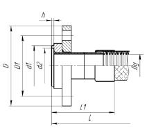 """Металлорукав с фланцами - Ф04. Металлический рукав высокого давления МРВД с арматурой «Фланцевое соединение» - """"Синергия"""""""