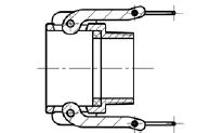 Муфта БМ33 (тип B) МРВД с БРС с наконечником под приварку, с внутренней резьбой, с наружной резьбой, с заглушкой