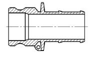 Штуцер БА31 (тип E) МРВД с БРС с наконечником под приварку, с внутренней резьбой, с наружной резьбой, с заглушкой