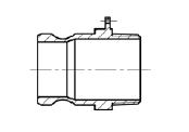 Штуцер БА33 (тип F) МРВД с БРС с наконечником под приварку, с внутренней резьбой, с наружной резьбой, с заглушкой