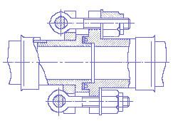 Фланцевое соединение с откидными болтами, чертеж