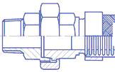 Гайка соединительная с наружной резьбой (либо с арматурой под приварку), чертеж