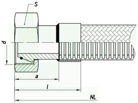 Металлорукав с арматурой «сфера под конус с углом 24°» НМ060