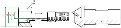 Металлорукав с арматурой «сфера под конус с углом 60°» НМ070