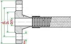 Металлорукав с арматурой «фланцевое соединение (приварные фланцы)» НМ020