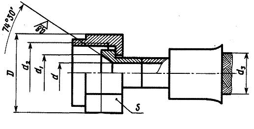 Металлорукав РМ000 с арматурой конус - конус с углом 74°